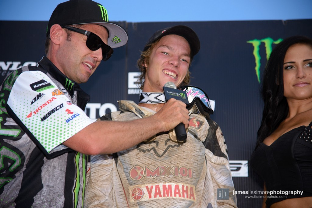 MX101 Yamaha's Dylan Wright captured his first pro podium in his FIRST PRO race. This year then he should win, right?