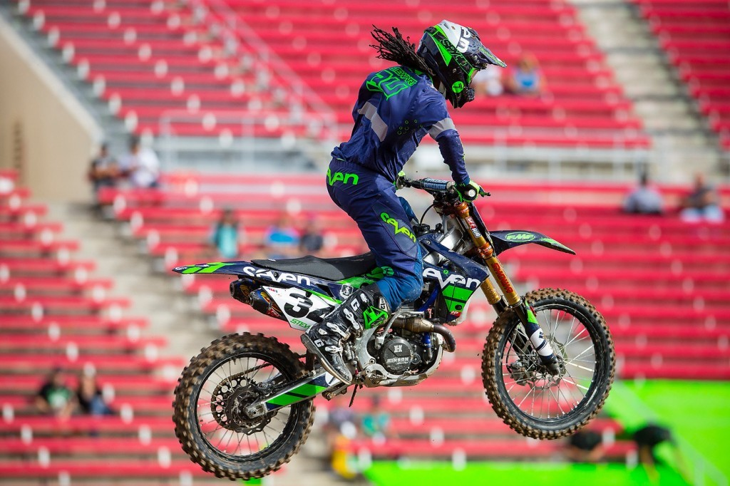 I wonder what brand of gear Malcolm Stewart wore at Monster Cup?