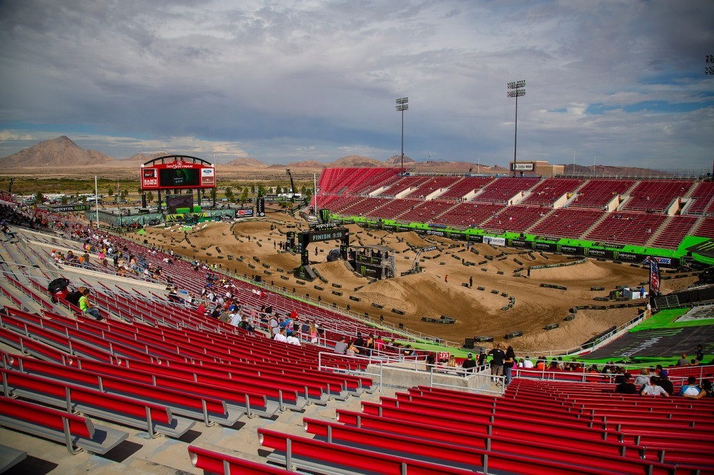 Sam Boyd Stadium prepares for another helping of supercross.
